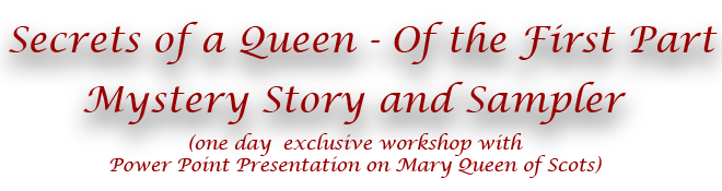 Secrets of a Queen I Mystery Story and Sampler Title